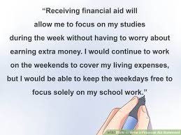 Ways to Write a Financial Aid Statement   wikiHow wikiHow
