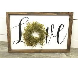 love wreath sign wreath sign love sign farmhouse sign