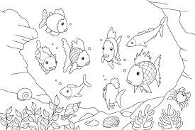 fish coloring pages with picture of a fish to coloring pages