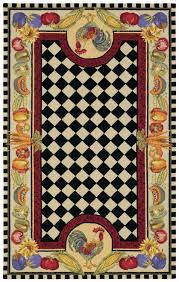 Capel Rug Sale Contemporary Hand Made Novelty Rug With Black And White Checkered