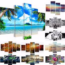 modern art painting print canvas animal view nature picture home