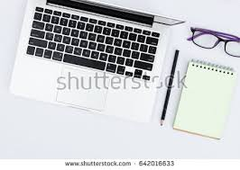 top view white office desk table stock photo 497714872 shutterstock