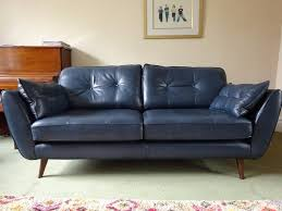 Leather Sofas At Dfs by Dfs French Connection Zinc Blue Leather 3 Seater Sofa Only 4