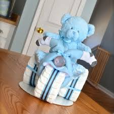 Boy Baby Shower Centerpieces by Tricycle Diaper Cake Boy Baby Shower Centerpiece New Daddy