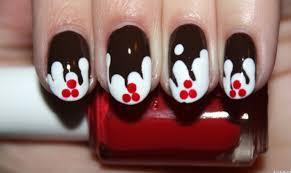 diy nail art christmas yule log manicure photo huffpost