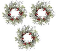 Awards And Decorations Branch by Set Of 3 Iced Branch And Berry 10