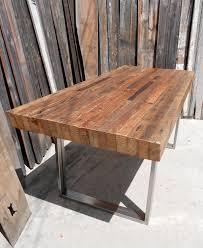 dining table custom outdoor indoor rustic industrial reclaimed