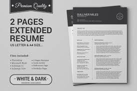 Resume Template For Mac Pages 2 Pages Resume Cv Extended Pack Resume Templates Creative Market