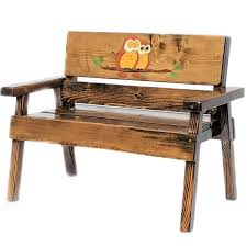 Childrens Garden Chair Owl Wood Bench Childrens Outdoor Furniture Kids Wood