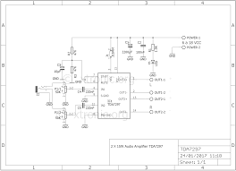 home theater circuit diagram stereo power audio amplifier with tda7297 u2013 2 x 15 watts xtronic