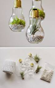 Craft Ideas Home Decor Best 25 Light Bulb Crafts Ideas On Pinterest Light Bulb Light