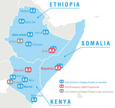 Map Of Kenya Africa by East Africa Famine Sos Children U0027s Villages