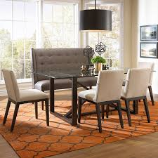 Contemporary Dining Room Table by Bemodern Argo Contemporary Dining Set With Settee Belfort