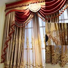 2016 fashion new design luxury window elegant valance curtain