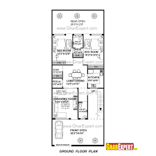 house plan for 27 feet by 70 feet plot plot size 210 square yards