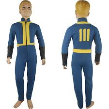 anime costumes for halloween kids boys video game fallout 4 sole survivor nate jumpsuit