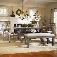 powell turino grey oak dining room kitchen table 4 chairs u0026 bench