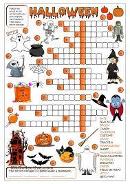Halloween Printable Activities Halloween Crossword U2026 Pinteres U2026