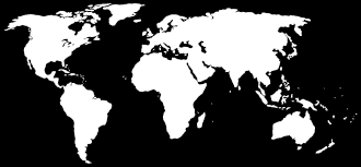 Colored World Map by World Maps With Solid White Color And Transparent Areas Outline