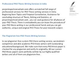 Professional PhD Thesis Writing Services in India projectreportconsultant com