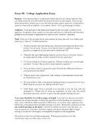 Examples Of Admissions Essays College Admissions Essays Bienvenidos