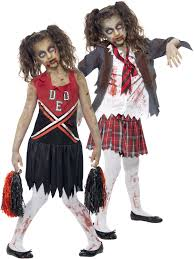 halloween party for teens age 7 15 girls zombie cheerleader costume halloween fancy