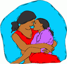 catoon image of a child in her mother's lap, borrowed from t2.gstatic.com