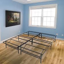 Mattress Foundation King Platform Metal Bed Frame Foldable No Box Spring Needed Mattress