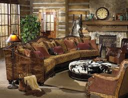 Home Decoration Lamps Western Decorating Ideas With A Cow Leather Sofa And Decorative
