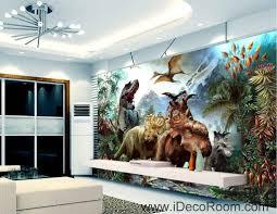 3d dinosaurs jurassic world mountain wallpaper wall art print
