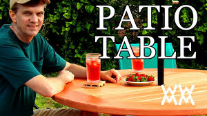 Build Your Own Outdoor Patio Table by How To Make A Patio Table This Outdoor Table Is Easy To Build