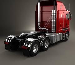 kenworth truck models kenworth k200 tractor truck 2010 3d model hum3d