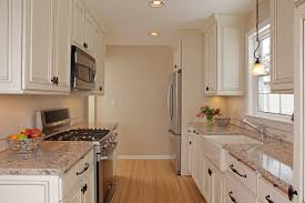 Small Kitchen With White Cabinets Farmhouse Kitchen Sink Granite Countertops White Cabinets And