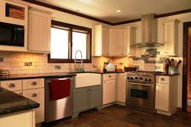 Orange And White Kitchen Ideas Brilliant Custom Country Kitchen Cabinets Style 8 And Decorating
