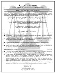 Secretary Resume Sample by Sample Of Legal Secretary Resume