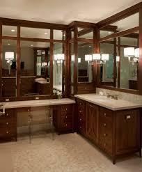 corner vanity mirror bathroom eclectic with bathroom backsplash