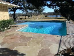 concrete pool designs ideas concrete patio around pool ideas