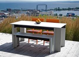Polyethylene Patio Furniture by Hall Dining Table 65 Inch Loll Designs Recycled Modern