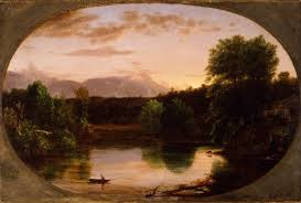 Thomas Cole              Sunset  View on the Catskill        Oil on wood panel         x                   New York Historical Society Museum  amp  Library