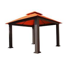 Lowes Gazebos Patio Furniture - stc 12 ft x 12 ft seville gazebo gz734 the home depot