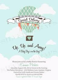 printable baby shower invitations for boys blue skies custom digital air balloon baby shower invitation