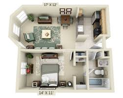 Single Bedroom Apartment Floor Plans by Floor Plans And Pricing For 2000 Post Apartments San Francisco Ca