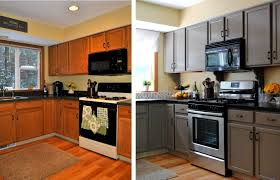 How To Paint Kitchen Cabinets Video Trendy Painted Kitchen Cabinets Before And After Grey Pleasant Not