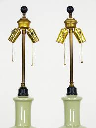 Asian Style Table Lamps Celadon Glaze Asian Style Table Lamps Pair Oneandhome