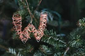 handmade ornaments wire letters la casa de crafts