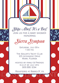 nautical themed baby shower invitation wording