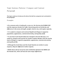 Complete lesson and templates for writing compare and contrast essays