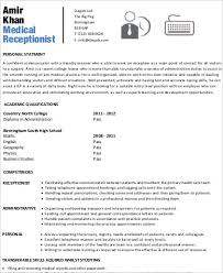 Sample Of Receptionist Resume by Receptionist Resume Sample 8 Examples In Word Pdf