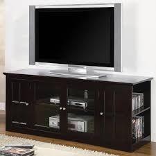 Bedroom Furniture Espresso Finish Fullerton Transitional Media Console With Glass Doors Lowest Price