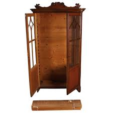 antique oak bookcase with glass doors antique swedish gothic revival oak and veneer glass door bookcase